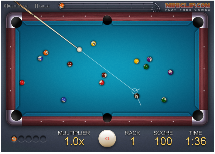 Miniclip 8 Ball Quick Fire Pool